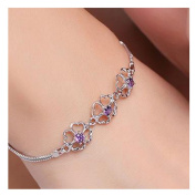 Cosanter Clover Silver Bracelet Female Students Hand Jewellery Silver Plated Jewellery