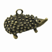 NEWME 7pcs 25x16x13mm 3d Hedgehog Charms Pendant For DIY Jewellery Making Wholesale Crafting Handmade Bracelet Necklace Key Chain Bag Accessories