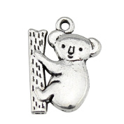 NEWME 25pcs 20x14mm koala Charms Pendant For DIY Jewellery Making Wholesale Crafting Handmade Bracelet Necklace Key Chain Bag Accessories