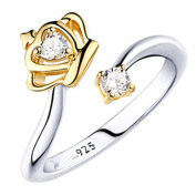 Queen Crown Ring Woopower Silver Plated Classical Elegant Adjustable Wedding Ring For Girlfriend