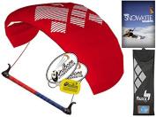 HQ4 Fluxx 1.3M Trainer Kite TR plus Snowkiting DVD Bundle (4 items) Includes How To Snowkite Instructional DVD + WindBone Kite Lifestyle Decals + WindBone Key Chain : Snow Kite Foil Traction