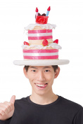Shiny cake Hat costume accessories unisex.