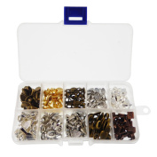 200pcs Mixed 10 Styles Tibetan Silver Bronze Gold Glue on Bail Tag for Jewellery Making Crafting