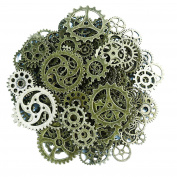 Gemini_mall® Steampunk Cyberpunk Watch Parts Vintage Gears Wheels Cogs Jewellery Making Crafts Art