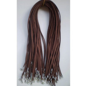 Bluelans® 10 X Brown Suede Leather Necklace Jewellery Making Cord String + Clasp