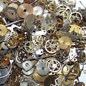 10g Vintage Steampunk Gears Wrist Watch Wheels Old Parts