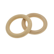 YNuth Crafts Wooden Pendant Jewellery Production Process DIY Accessories O Ring Hoops Unfinished 2Pcs