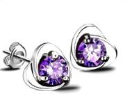 Cdet Earrings Women Heart Austria Crystal Ear Stud Girl Jewellery Accessories Love Gift