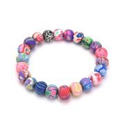 SevenMye 1 PCS Polymer Clay Beads Buddhist Prayer Wrist Mala Bracelet