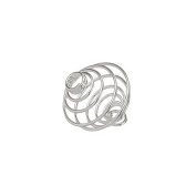 14mm Spiral Wire Bead Cage Pendants Silver Plated