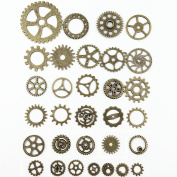 SSEELL 20 Piece Vintage Bronze Watch Parts Steampunk Cyberpunk Punk Cogs Gears DIY Jewellery Craft