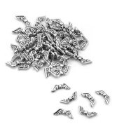 50 Pcs Angle Wings Spacer Bead DIY Necklace Bracelet Jewellery Making Findings