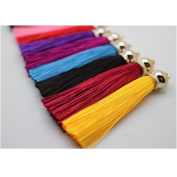 Fashion 12pcs Ice Silk Silky Tassel For Cell Phone Straps/DIY Charms Handbag Pendant