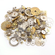 Surepromise 50g Cyberpunk Vintage Steampunk Jewellery Cogs Gears Wheels Watch Parts Craft Arts
