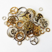 100g watch parts STEAMPUNK JEWELLERY ALTERED ART CRAFTS CYBERPUNK COGS GEARS ETC