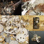 50g Cyberpunk Vintage Steampunk Jewellery Cogs Gears Wheels Watch Parts Craft Arts