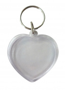 6 Keys 45 mm Clear and Hearts