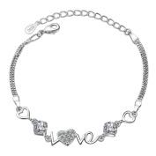 fablcrew Crystal Bracelet for Women Zircon bracelets Love