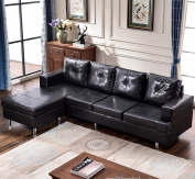 Harper & Bright Designs Modern Style Living Room L Shape Sectional Sofa with Reversible Chaise Lounge
