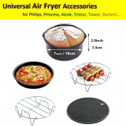 Air Fryer Accessories for Phillips Tower Duronic VonShef Salter or More Brand - Air Fryer Accessories Kits Set of 5 Fit All 3.5l 3.5l 3.5l
