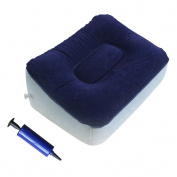 SelfTek Inflatable Travel Footrest With Random Colour Handy Inflating Pump