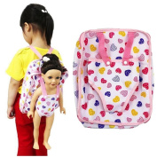 LCLrute Lovely Doll Backpack Carrier Adorable Accessory For Fits 15 to 46cm Dolls