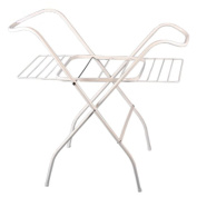 Baby Bath Tub 100cm Stand Support Holder Rack with Airer Shelves Metal Made