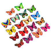 good01 Cute Colourful Butterfly LED Night Light Colour Changing Home Room Wall Decor