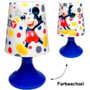 """LED Tischlampe - """" Disney - Mickey Mouse """" - mit Farbwechsel - Batteriebetrieben - SCHNURLOS & Kabellos - 19 cm hoch - Tischleuchte für Kinder / Nachtlicht Schlummerlicht - Einschlafhilfe - Nachtleuchte Kinderzimmer - Mädchen & Jungen - Nachttischlampe .."""