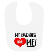 'My Daddies Love Me' cute unisex baby hook and loop feeding bib