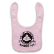 Inspired by Nineteen Eighty-Four 1984 Ministry Of Truth Unofficial Baby Bib, Light Pink