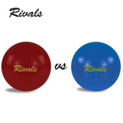 Rivals Bocce Ball Set Includes 4 Cardinal and Gold Bocces Versus 4 Blue and Gold Bocces, 1 Pallino, Measuring Tape, and Carrying Case With Strap | Perfect For The College Fan and Game Day