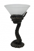 Resin And Glass Martini Glasses Bronze Finish Octopus Tentacle Martini Glass 4.5 X 18cm X 11cm Bronze