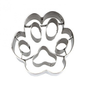 Staedter Embossing Dog Paw Small Cookie Cutter, Silver
