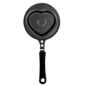 ibili Frying Pan with Heart Shape, Black, 12 cm