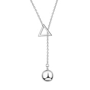 Wicemoon Geometric Triangle Ball Necklace Long Sweater Chain Necklace Pendant Clothing Accessories