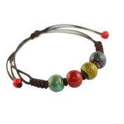 Wicemoon Beaded Ceramic Bracelets Ethnic Style Ceramic Crafts Bracelet