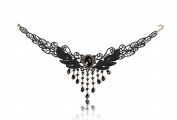 Gespout Lady Choker Necklace Adjustable Gold Metal Sequins Tassel Pendants Best Dress Decoration for Women Girl