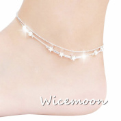 Wicemoon Fashion Ankle Bracelet Chain Women Five-pointed Stars Anklets Chain Barefoot Sandal Beach Foot Jewellery