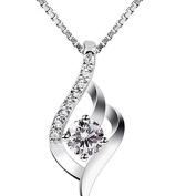 ODN Ladies Zirconia Twist Necklace Pendant Charms Jewellery