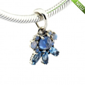PANDOCCI 2016 Christmas Patterns of Frost Multi-Coloured Crystal Beads Fits Original Pandora Charm Bracelets Jewellery