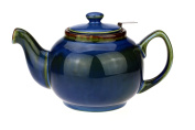 """Classic English Tea Pot/Teapot Made Of Ceramic With Non Tropfendem Spout """"Cambridge 1.0 Litre with Stainless Steel Tea Infuser sky blue"""