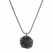Basics Brand Wire Ball Necklace