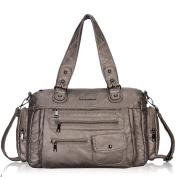 Veevan Large Handbags for Women Zip Shoulder Bags Purse Casual Tote Bag