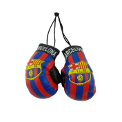 Barcelona Mini Boxing Gloves to Hang Over Your Automobile Mirror