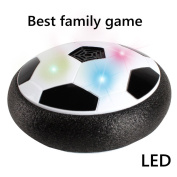 CHONE Kids Toy LED Light Hover Ball Floating Hockey Football 2 in 1 For Indoor Outdoor Boys Girls with Parents Game,Power Supply 4 x AA Batteries