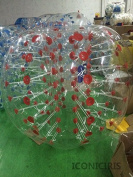 Inflatable Bumper Bubble Balls Body Zorb Ball Soccer Bumper Football 1.5m Transparency with Red Dot
