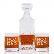 No. 1 Dad Engraved Vintage Cut Decanter