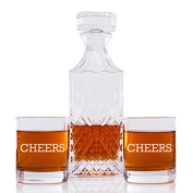 Cheers Engraved Vintage Cut Decanter