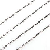 Skyllc® Black Zero-Shaped Crossed Link Metal Chain 5 Metres Long